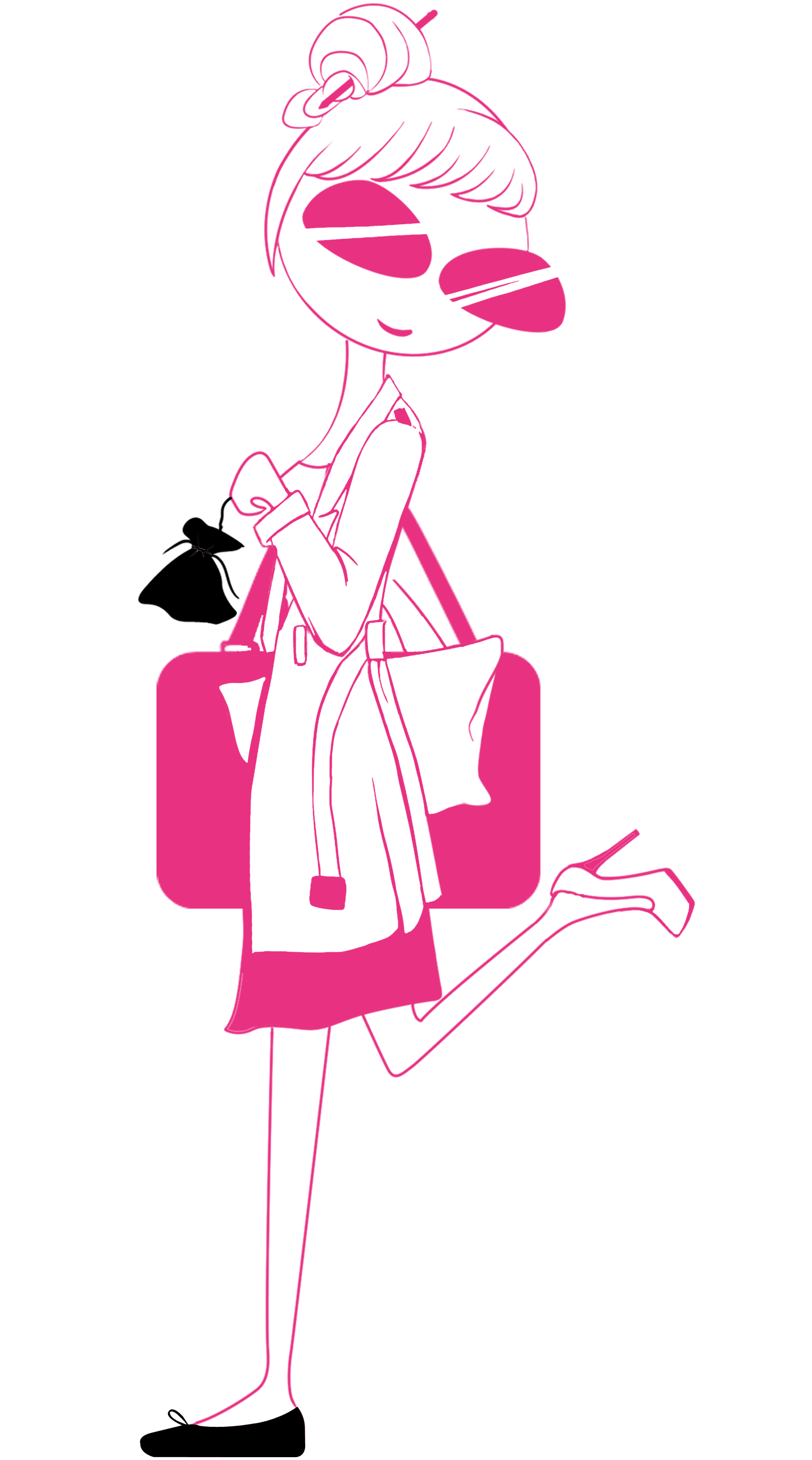 Miss Shoette - Working woman - rose